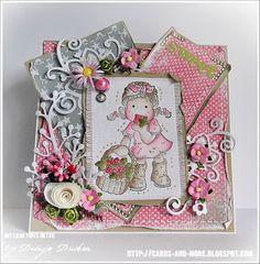 a SWEET ❤ Card by Dunja Dücker - using Floral Bouquet Die and Summer Branch Die