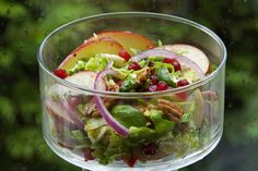 Brussels Sprout or Cabbage Salad with Pomegranate Seeds