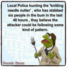 Knitting Patterns Funny knitting humor with Kermit the Frog Knitting Quotes, Knitting Humor, Crochet Humor, Knitting Stitches, Knitting Needles, Knitting Yarn, Knitting Projects, Knitting Patterns, Crochet Projects