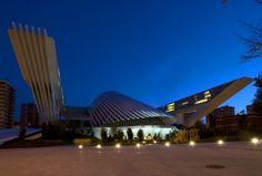 Palacio de Congresos, es obra del arquitecto valenciano Santiago Calatrava. Es uno de los edificios más singulares de Oviedo y se erige en la conocida como parcela de Buenavista, en lo que fueron los terrenos del antiguo estadio de fútbol Carlos Tartiere hasta el año 2003. Actualmente este edificio alberga en sus instalaciones diversos congresos y actos durante todo el año, además de un centro comercial abierto ya en 2008.