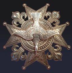 Rarissime plaque de l'ordre du Saint-Esprit en argent
