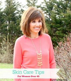 Sharing my skin care tips for women over 40!  #skincare #graceandbeautystyle #womeover40