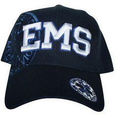 e00bce346f5 ems logo embroidered ball caps navy blue and white. large white 3d ems logo  on