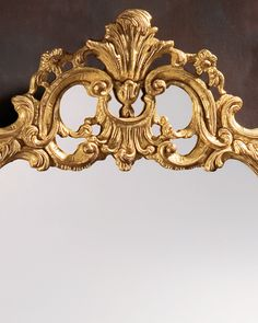 Neoclassic style - mirror - Neoclassic mirror - Neoclassic style carved wood mirror with leaf scrolls design mirror finished in antiqued gold leaf