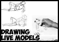 Sketching a live model can be tough, it is a lot of pressure to work fast and to get all the details while staring at a live human being. It is also hard to get the right pose. This lesson will guide you through that process. Easy Drawing Steps, How To Draw Steps, How To Draw Hair, Step By Step Drawing, Easy Drawings, Body Drawing, Figure Drawing, People Poses, Live Model
