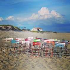 Here's one of the pictures we took of the @fermob Bistro Chairs as a part of their 125 Birthday celebration. This location is the beautiful #coopersbeach in #southampton. Stay tuned for more pictures!
