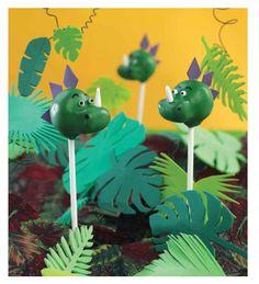 "Dinosaur Cake Pops from the book ""Super Pops"""