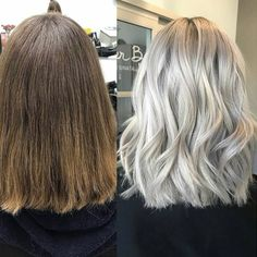 Winter is coming, and this cool-toned trend is taking over our Insta feeds—icy platinum haircolor! So, when California-based stylist Grace Joo (@colorwithgrace) helped her client ditch brassy tones for this silvery blonde, we had to share the deets! Check out the formulas and get all the steps below!
