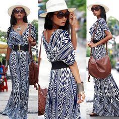 bohemian maxi dress long Gorgeous boho maxi dress. V neck 3/4 sleeves.                                                                    108 Dresses Maxi