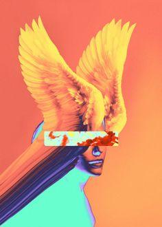 Great artwork by Dorian Legret : Chogo #artwork #visualart #art #poster #print #digitalart #collage #beautyvisual #illustration get the metal poster from Displate.com