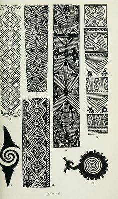 40 Gambar Dayak Tatto Galery Terbaik Tato Borneo Seni Tato Suku