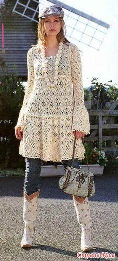 Платье спицами. Красота...