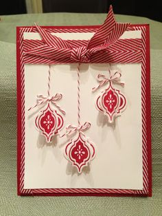 Stampin' Up! Christmas Card by Anree at Créations Bokado: Mosaic Punch