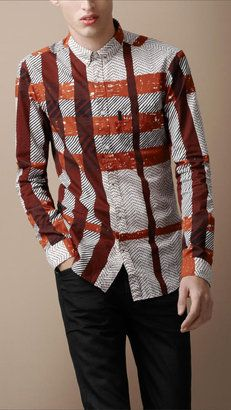 Eclectic Check Cotton Shirt. Gotta have it here http://bit.ly/xbMwj0