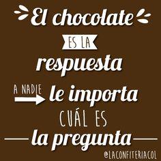¿Y qué tal un viernes de chocolate? #chocolate #amoelchocolate #viernes #regalos #regala #detallesempresariales #regalosdiferentes #fortaleciendolazos #regalostodacolombia Calm, Chocolate, Life, Instagram, Ideas, Frases, No One Cares, Friday, Sweet