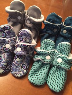 So cute! Custom booties that babies can't pull or kick off. Www.facebook.com/tootsietraps