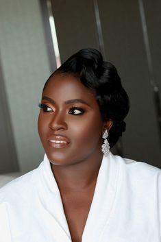 Black Bridal Makeup, Bridal Hair And Makeup, Hair Makeup, Wedding Makeover, Eyebrow Makeup Tips, African Beauty, Eyebrows, Marie, Eye Brows