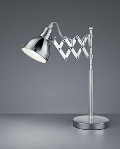 """3-Watt-LED Design-Tischlampe /""""Silver Moon/"""" LED-Nachttischleuchte refurbished"""