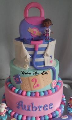 Doc McStuffin birthday cake/ Disney birthday cakes/ Kids birthday cakes/ Birthday ideas