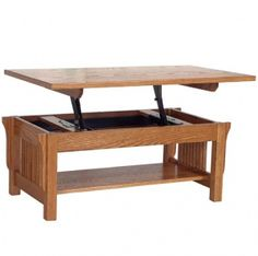 Solid Wood Amish Made River Road Table & Optional Lift-Off Top