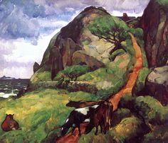 Leon Kroll (USA 1884-1974)  Hill and Sea (1915) oil on canvas
