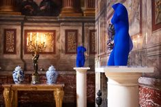 """This is the story of Yves Klein Blue. A dazzling ultramarine, emerging in Paris, thanks to a single artist's radical vision"" Peter Smith, Yves Klein Blue, Wardrobe Solutions, Blenheim Palace, Classical Antiquity, Indigo Colour, Muse Art, French Artists, Electric Blue"