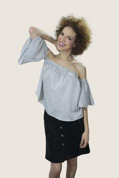 #top #falda #lines #moda #mujer