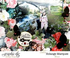 Mon'amour layout by Solange Marques. Graphic 45 Mon'amour collection (3)