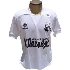 Camisa retrô Santos kleenex