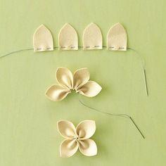 fleur en tissu tuto, comment faire des fleurs en tissu élégantes, technique simple à réaliser a l aide d aiguille et fil