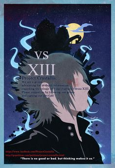 """Final Fantasy Versus XIII Vintage Poster. """"There is no good or bad; but thinking makes it so."""""""