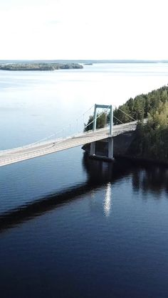 Drive through a lake along a spectacular scenic route. Beautiful Places To Travel, Aerial View, Finland, Switzerland, Travel Photos, Road Trip, Europe, Pictures, Photography