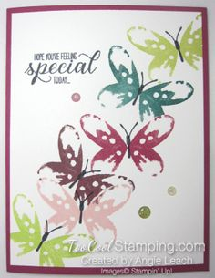Watercolor wings in color cards - berry