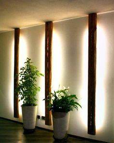 31 Indoor Woodworking Projects to Do This Winter – wood proje… - Beleuchtung Hallway Lighting, Event Lighting, Lighting Ideas, Wood Projects, Woodworking Projects, Landscape Lighting Design, Deco Studio, Old Wood, Living Room Decor