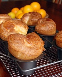 My dad made popovers on weekend mornings and just thinking about his Maine recipes makes me hungry. The popovers are huge, lighter than air and easy to make. Popover Pan, Popover Recipe, Bread Recipes, Cooking Recipes, Budget Recipes, Pudding Recipes, Planning Menu, Good Food, Yummy Food