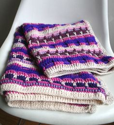 👨🏼 Cobertor Crochê  Padrão -  /  👨🏼 Blanket Pattern Crocheting -