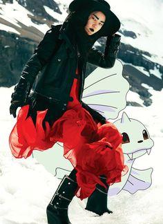flare december 2011; hyoni kang & dewgong  *for crispyseals!// pokexfashion