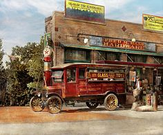 Truck - Delivery - Haas Has It 1924 Print by Mike Savad