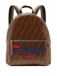 555d0de9f Brown Leather Backpack, Leather Backpacks, Backpack Purse, Sling Backpack,  Fendi Bags, Designer Handbags, Pouch, Briefcases, Backpacks