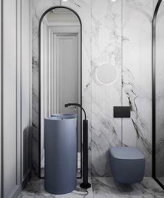 Кликай на фото, чтобы увидеть больше ракурсов этого туалета. Дизайн интерьер туалет : хозяйский и гостевой туалет Design interior Ada Bathroom, Bathroom Toilets, Modern Bathroom, Small Bathroom, Bathroom Marble, Bathroom Grey, Bathroom Vanities, Bathroom Mirrors, Bathroom Cabinets