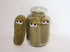 Jar of Dill Pickles by plushoff, via Flickr Not Felt more of a deep olive minky fabric.