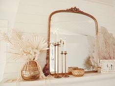 Katrina Scott, Put Together, Dried Flowers, Floral Arrangements, Oversized Mirror, Inspiration, Furniture, Instagram, Thanksgiving
