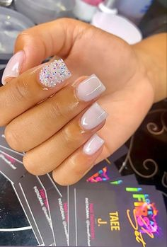 Short Square Acrylic Nails, Drip Nails, Acrylic Nails Coffin Short, Simple Acrylic Nails, Tapered Square Nails, Acryl Nails, Cute Acrylic Nail Designs, Lilacs, Beige