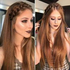 Hair Colour Design, Hair Color, Romantic Hairstyles, Wedding Hairstyles, Beautiful Hairstyles, Headband Hairstyles, Braided Hairstyles, Straight Prom Hair, Straight Hairstyles For Long Hair