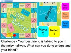 Teach and practice basic knowledge and socially appropriate ways for students with hearing loss to advocate for themselves. Students learn and review vocabulary such as middle ear, audiogram, etc. and problem solve commonly occurring scenarios in a board game format. https://itunes.apple.com/us/app/rule-school-self-advocacy/id455501634?mt=8