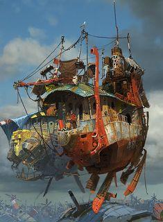 Hal's floating castle?