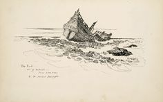 ship sketch picture | Wyeth's idea was to draw a man who succumbed to the cold: