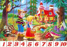 Children going to a a new home they discovered pieces) Math For Kids, Crafts For Kids, Diy And Crafts, Preschool Education, Preschool Activities, Christmas Jigsaw Puzzles, Hansel Y Gretel, Story Of The World, Color Activities