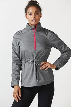 This may look like your classic water-resistant jacket, but this high-level design offers more than meets the eye. Protect your body from the elements and the dark with its reflective fabric and hidden hood that's stashed within a zippered collar.