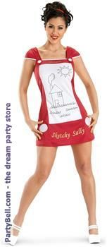 This doll loves to doodle. Shake it up a little this Halloween with this clever disguise. The Sketchy Sally Adult Costume includes a sketching toy-inspired dress with white knob button details and coordinating red headband. Clever Halloween Costumes, Funny Costumes, Adult Costumes, Costumes For Women, Cosplay Costumes, Halloween Party, Homemade Halloween, Halloween Ideas, Sally Costume